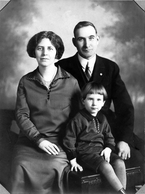 My grandparents Elena Fogarty Conlon, Martin Joseph Conlon, and my father.